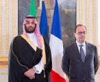 الرئيس الفرنسي وسمو ولي ولي العهد يشهدان مراسم توقيع عدد من الاتفاقيات بين المملكة وفرنسا