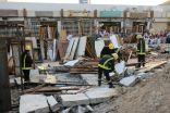مدني مكة: انهيار سور أثناء ازالة مبنى ووفاة عاملين وإصابة عامل بشارع الحج