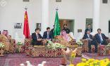خادم الحرمين الشريفين يستقبل رئيس جمهورية الصين الشعبية في قصر المربع التاريخي