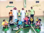 20 طالب من التربية الخاصة بابتدائية حسان بن ثابت بالدمام يتَدربون على حقيبة السلامة المرورية