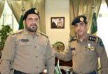 العقيد منصور الدوسري يقلد وكيل رقيب عدنان بوسعيد الرتبة الجديدة