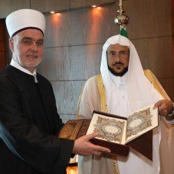وزير الشؤون الإسلامية يحتفي برئيس العلماء مفتي البوسنة والهرسك والوفد المرافق له